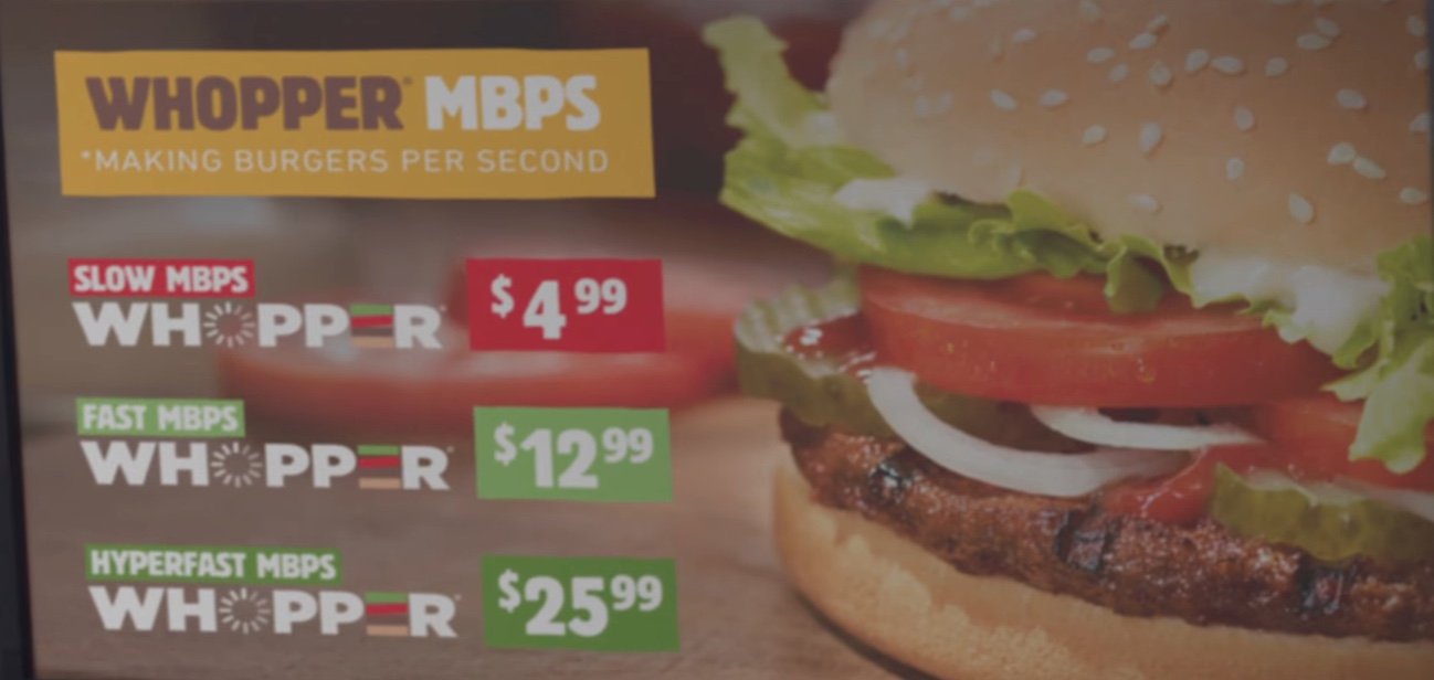 Burger King Video about net neutrality