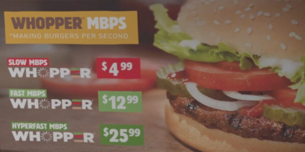 Burger King Video about net neutrality