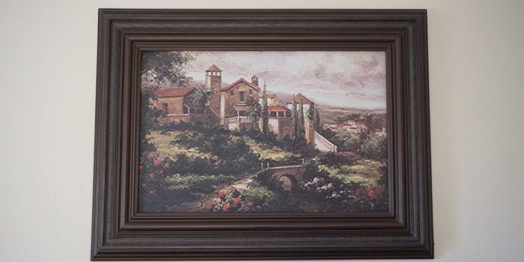 TV Wall Frame with Art Automatic0015